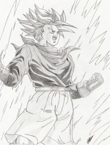 Trunks Powering Up